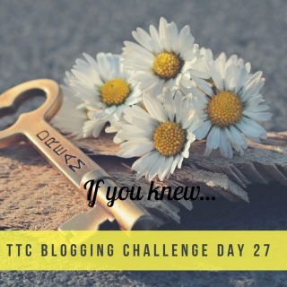 TTC Blogging Challenge Day 27
