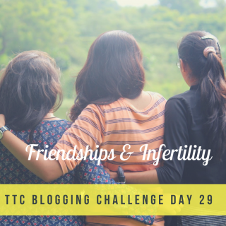 TTC Blogging Challenge Day 29 | Friendships & Infertility